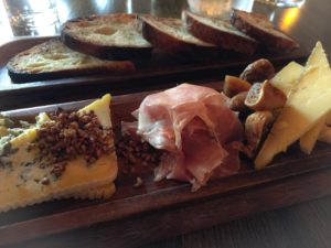 3 cheese and charcuterie option- blue, jean louis, and proscuitto