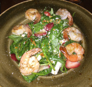 Strawberry Spinach Salad with Shrimp