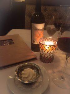 Charles Krug cabernet off their wine list